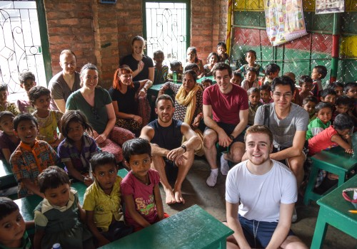 The group in our Khidderpore centre with the children from our pre-school.